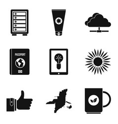 Doorman icons set simple style vector