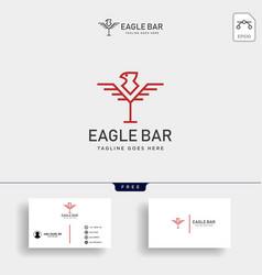 Eagle bar drink premium logo template vector