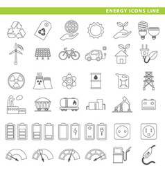 Energy icons line vector