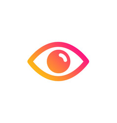 eye icon look or optical vision sign vector image