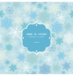Falling snow frame seamless pattern background vector