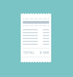 flat style bill payment design vector image