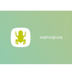 frog logo on white background frog vector image