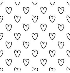 golden heart pattern seamless vector image