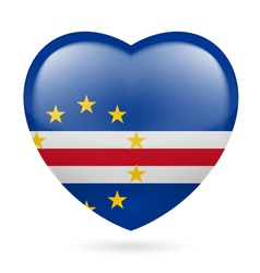 Heart icon of Cape Verde vector