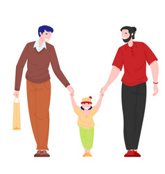 homosexual family concept vector image