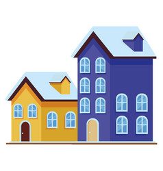 House and building icon isolated vector