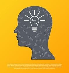 Human head with idea concept vector image