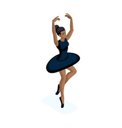 isometric girl is african-american she is practic vector image