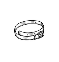 Leather belt hand drawn sketch icon vector
