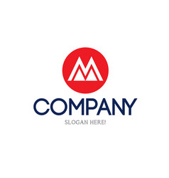 letter m logo concept vector image