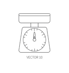 Line flat kitchenware icons - kitchen vector
