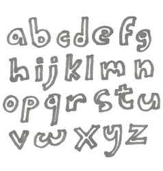 Lower case marker alphabet vector