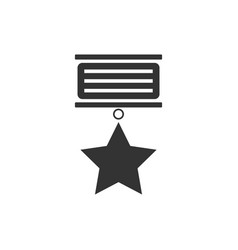 medal icon flat vector image