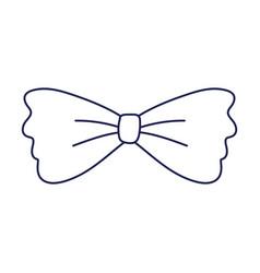 Men bow tie accessory fashion vintage classic vector
