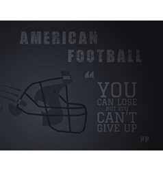 modern unique american football poster vector image