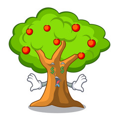 money eye apple tree in agriculture the cartoon vector image