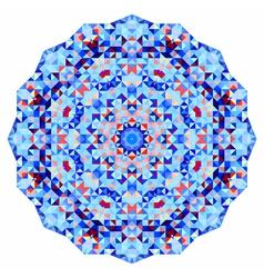Mosaic round banner vector image