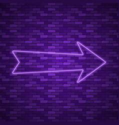 Neon arrow sign vector