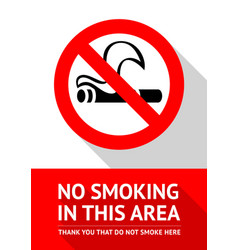 No smoking area vector