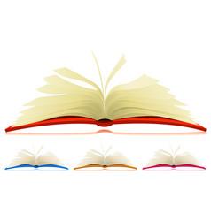 open book set vector image