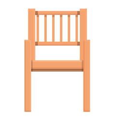 Outdoor wood chair icon cartoon wooden vector