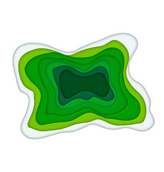paper art cartoon abstract waves in realistic vector image