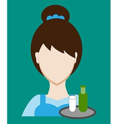 Profession people waitress Face male uniform vector image