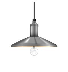 realistic glow bulb vector image