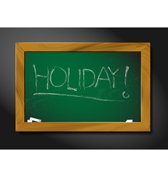 School blackboard - holiday vector