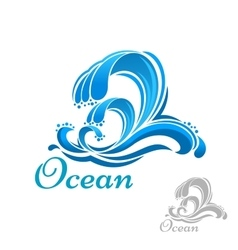 Sea wave or surf symbol vector image