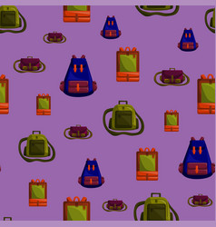 seamless pattern with colorful school bag vector image