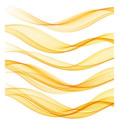 set abstract flow transparent color wave vector image