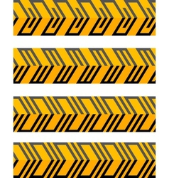 Set of geometrical seamless patterned borders vector