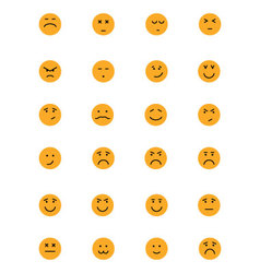 Smiley Colored Icons 5 vector