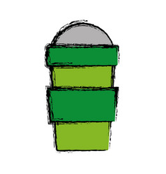 smoothie drink cup icon vector image