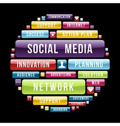 Social media concept circle vector image