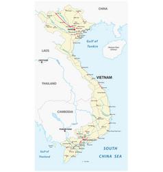 socialist republic of vietnam road map vector image