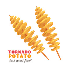 Spiral tornado potato vector