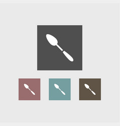 Spoon icon simple vector