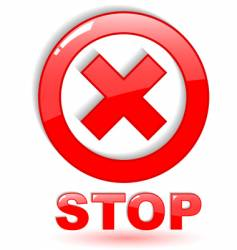 stop symbol on white vector image