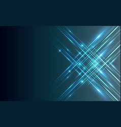 straight lines abstract technology blue shiny vector image