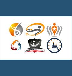 success life coaching logo set vector image