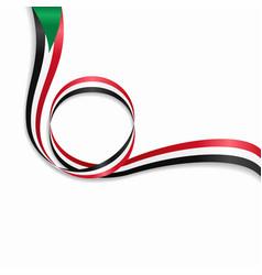 Sudan wavy flag background vector