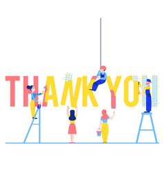 Thank you text design with vector