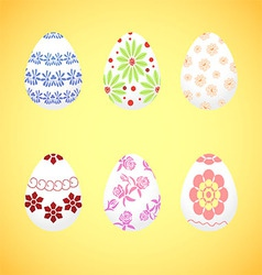 The dyed eggs for easter vector