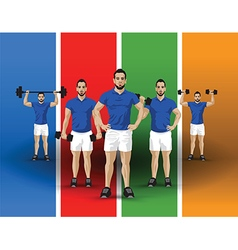 Training group colour background vector