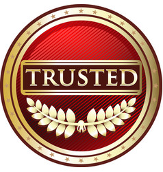 Trusted red icon vector