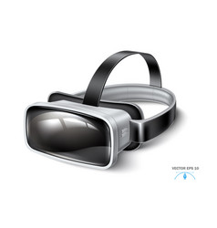 virtual reality headset vr mask mock up vector image