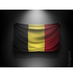 waving flag belgium on a dark wall vector image